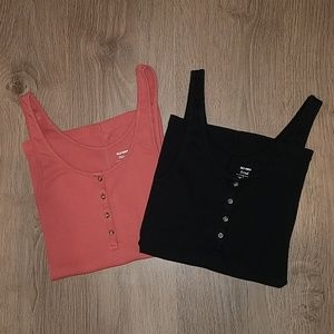 2 Old Navy XS Fitted Tank Tops